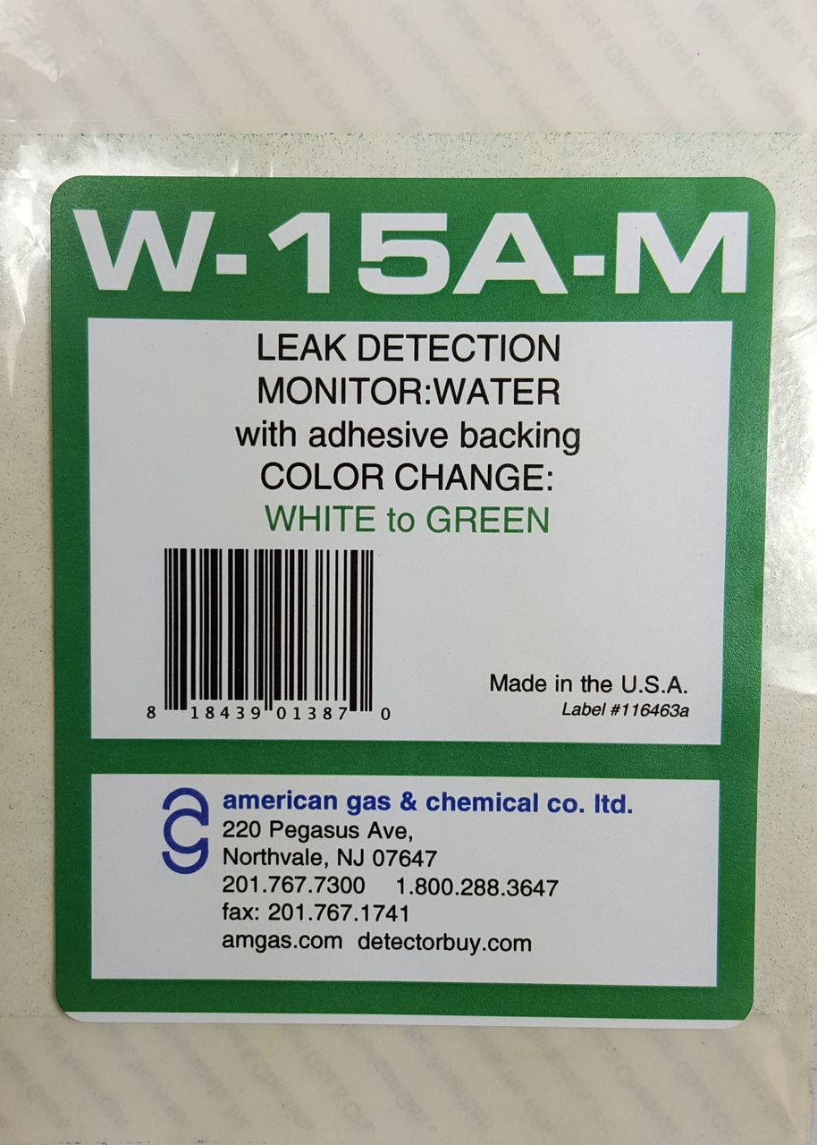 "W-15A-M Water Leak Detection Monitors (4"" x 4.25"", pkg of 12)"