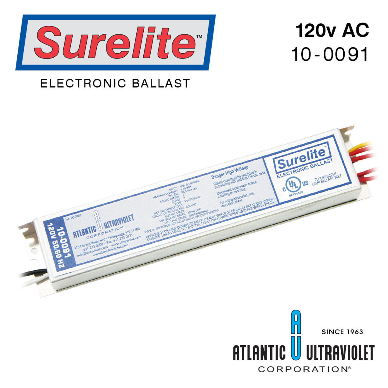Atlantic UV 10-0091 Replacement Electronic Ballast for MP49C 120V