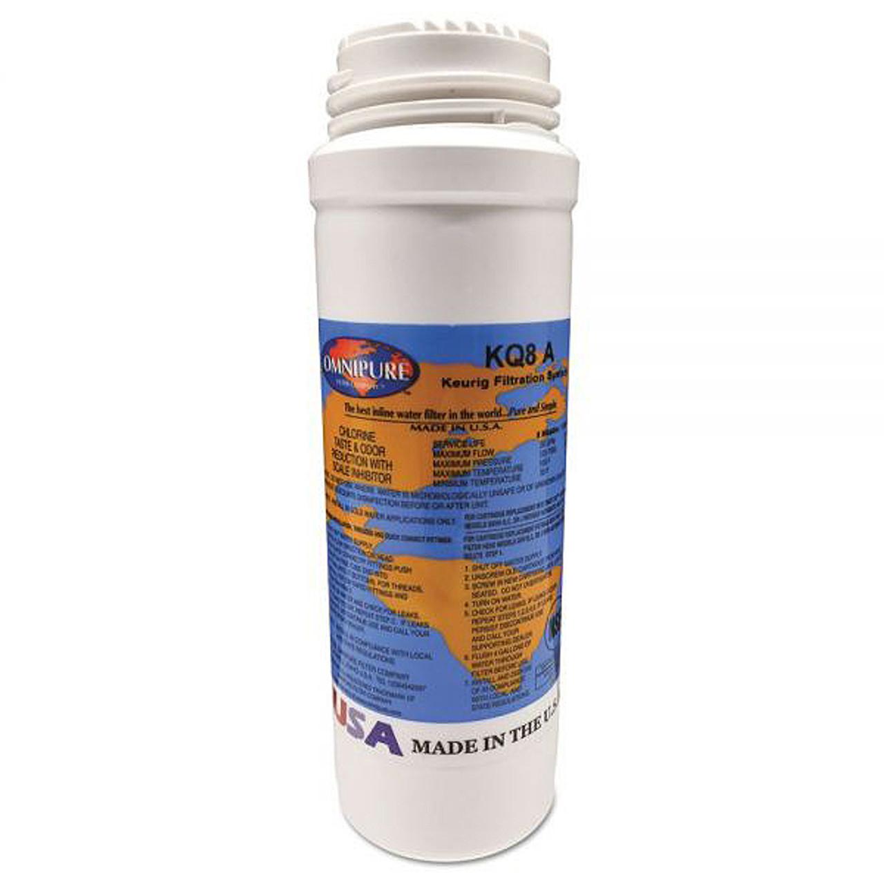 """Keurig Omnipure KQ8A 8"""" GAC/Phosphate Filter Cartridge Q5486"""