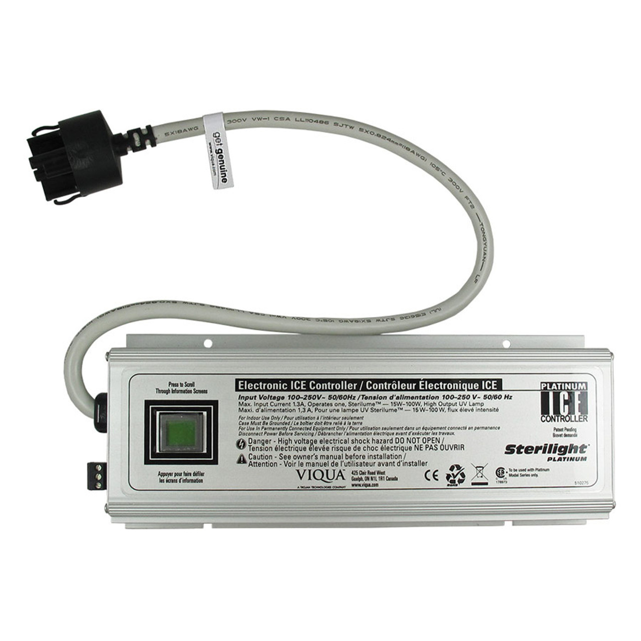 The Sterilight SPC-ICE-HO Controller/Ballast for Platinum Models 100-240V