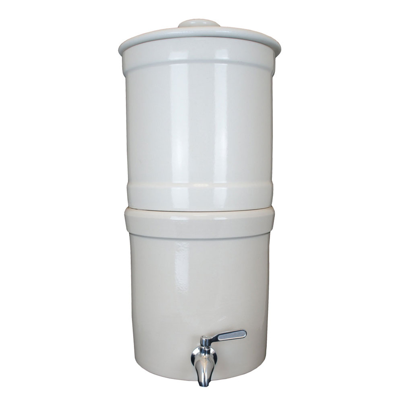 "AquaCera Terra2 White Stoneware Gravity Filter w/(2) CeraMetix 7"" Filters W9372230"