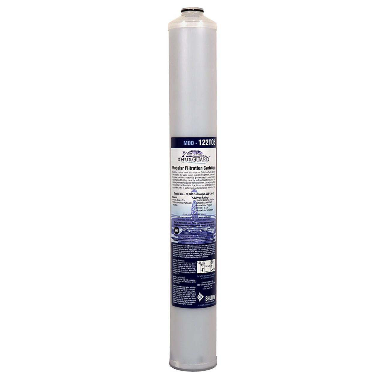 Pentair Shurflo 122TO5 Modified Carbon Block 5 Micron Ecolab 9320-3893