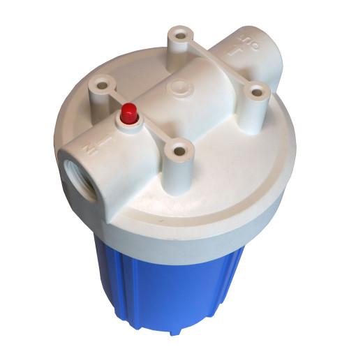 "Kemflo KM5000BL1PR 10"" Full Flow Filter Housing w/Pressure Relief 1"" AP801 Compatible"