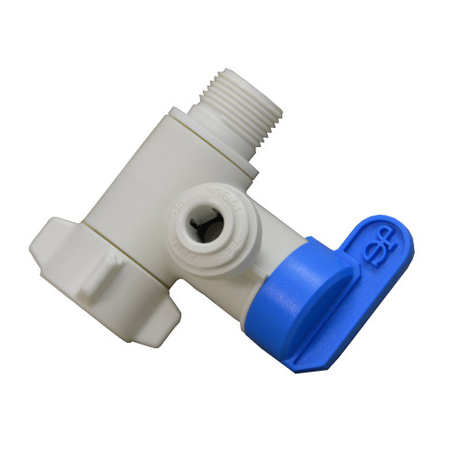 """The John Guest PASVPP1 1/4"""" Plastic Angle Stop Adapter"""