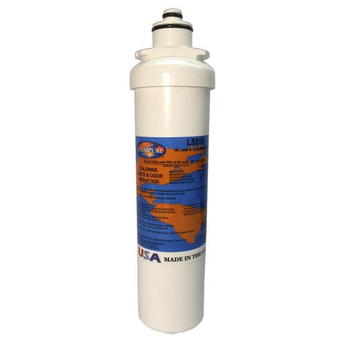 "Omnipure L5515 L-Series 10"" Carbon Block 1 mic Filter"