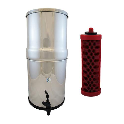 AquaCera SS-4 Pioneer Gravity Fed Filter System w/ (4) Chemix Filters W9371855