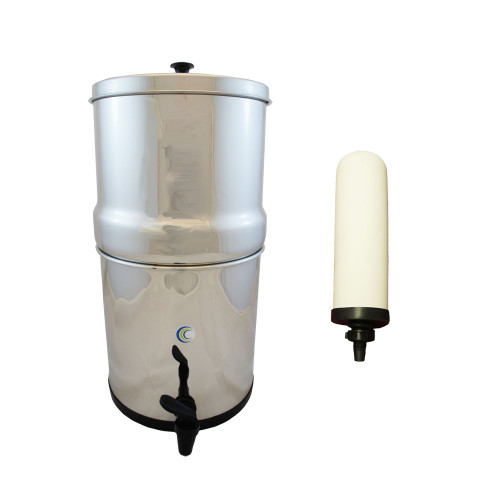 "AquaCera Traveler XL Gravity Fed Filter System w/ (2) CeraPlus 7"" Filters W9371210"
