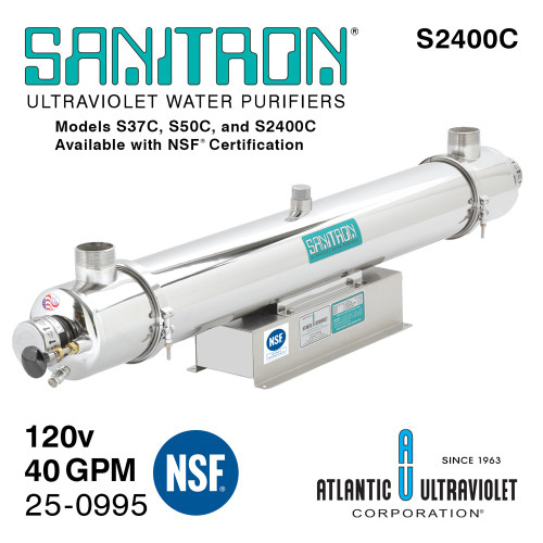 Atlantic UV Sanitron S2400C UV Water Purifier 25-0995