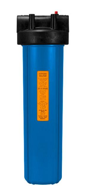 """Kemflo KM10000BL34PR 20"""" Full Flow Filter Housing w/Pressure Relief 3/4"""""""