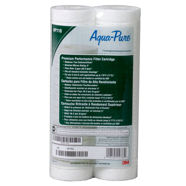 3M Aqua-Pure AP110 Dirt/Sediment Filter 2 Pack