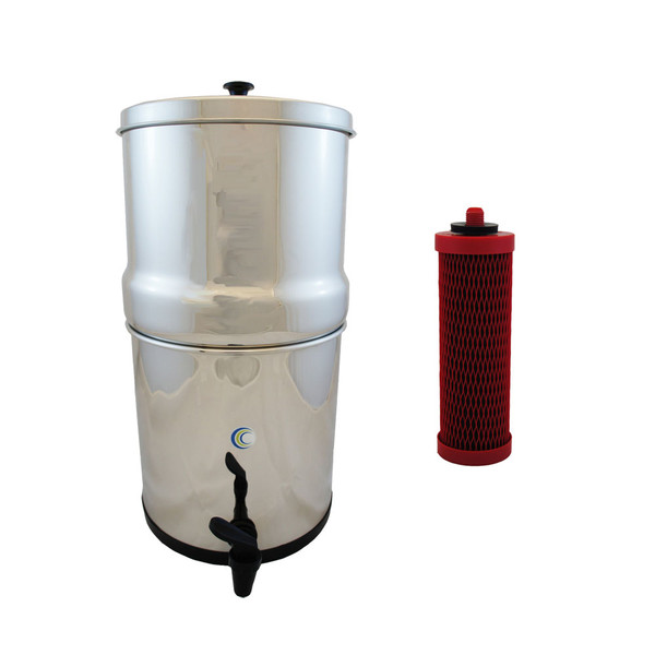AquaCera Traveler XL Gravity Fed Filter System W/ (2