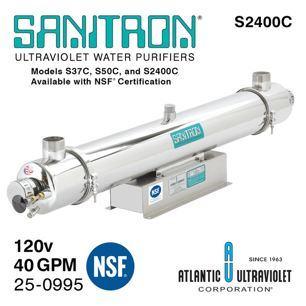Atlantic UV Sanitron S2400C UV Water Purifier 120V 60Hz