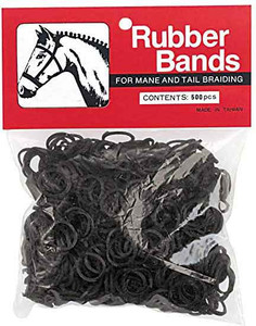 black weaver leather rubber braiding bands 500 count