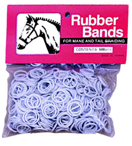 white weaver leather rubber braiding bands 500 count