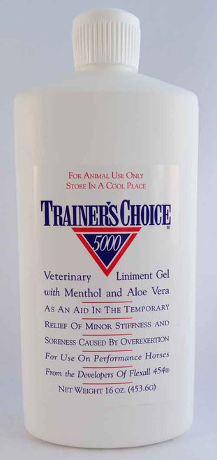 Trainer's Choice 5000 Veterinary Liniment Gel 16 oz.