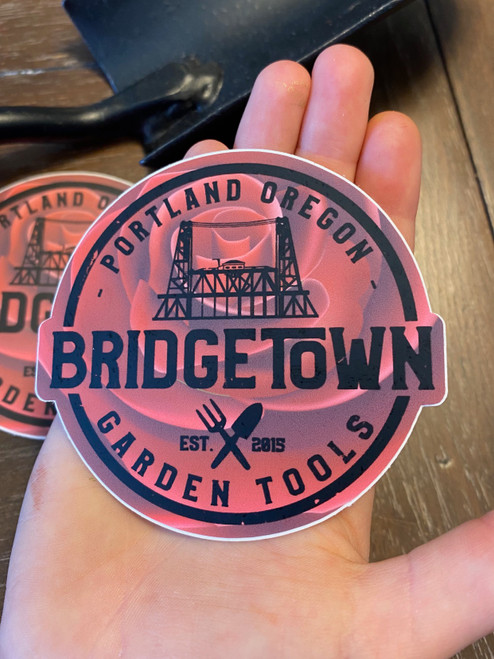 "Bridgetown 3"" Circle Die Cut Sticker - City of Roses"