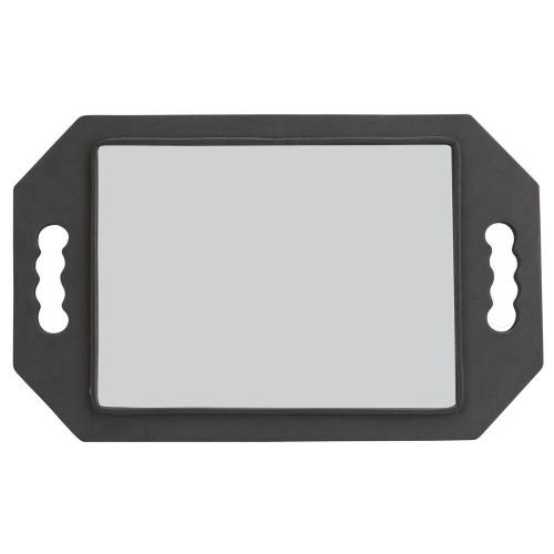 Salon Smart Black Eva Foam Rectangular Mirror