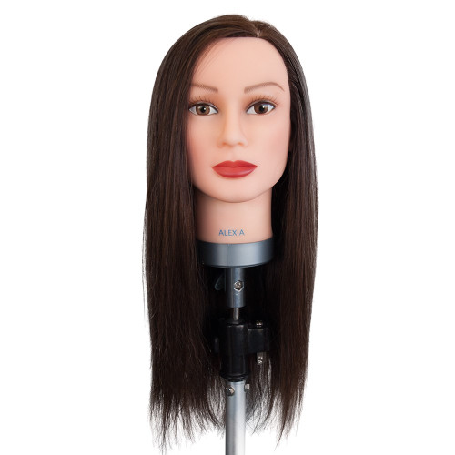 Dateline Professional Mannequin Long Indian Hair Brown - Alexia