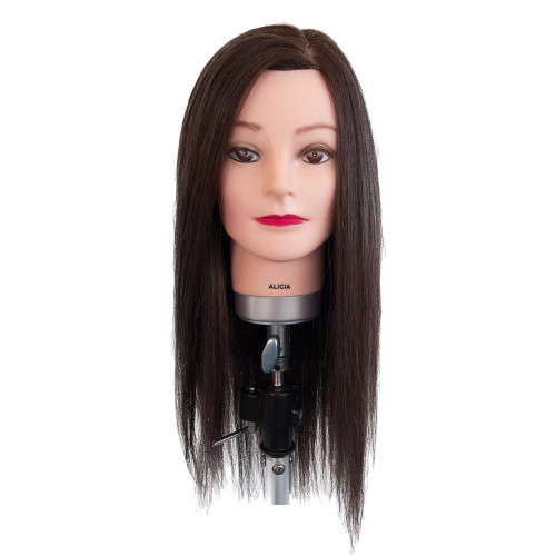 Dateline Professional Mannequin Long Indian Hair Brown - Alicia
