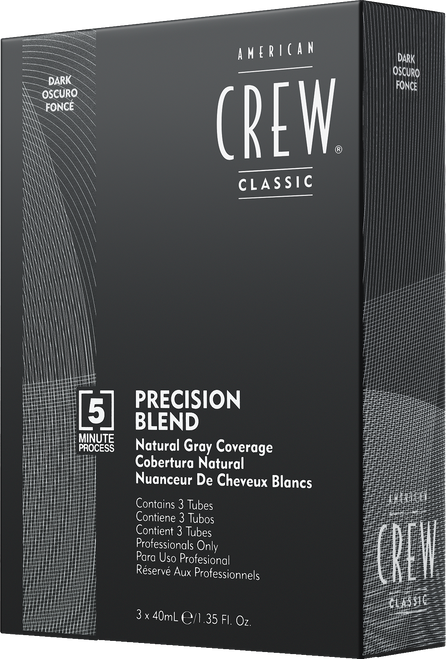 American Crew Precision Blend Hair Dye, Dark AU 2-3 - 3x40ml