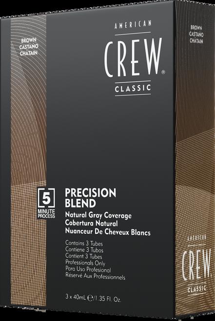 American Crew Precision Blend Hair Dye - Medium Natural 3x40ml