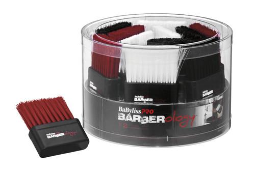 BaBylissPRO Barberology Neck Brush Red/Black/White - 12pc Tub