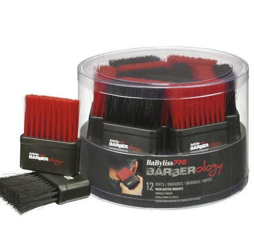 BaBylissPRO Barberology Neck Brush Red/Black - 12pc Tub