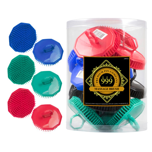 999 Massage Brush 24pc Display - Assorted Colours