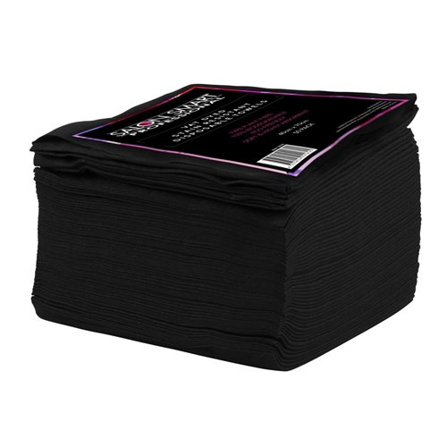 Salon Smart Towel Disposable - Black 50Pk