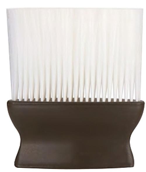 Neck Brush - Wide Black Handle with White Bristles