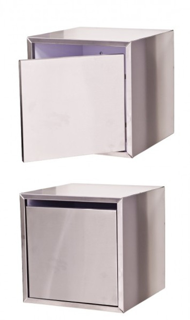 Cube Console Stainless Steel