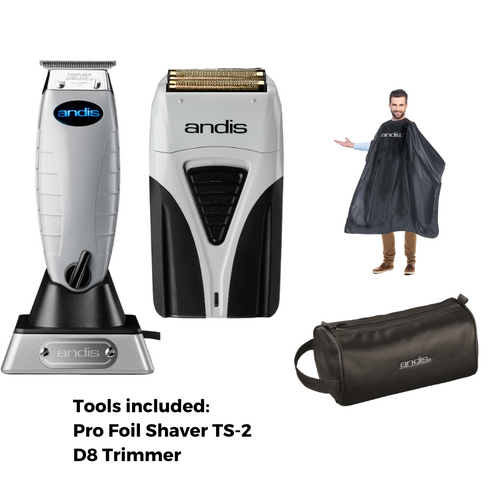 Andis Cordless TS2 Profoil Plus Shaver & Cordless T Outliner
