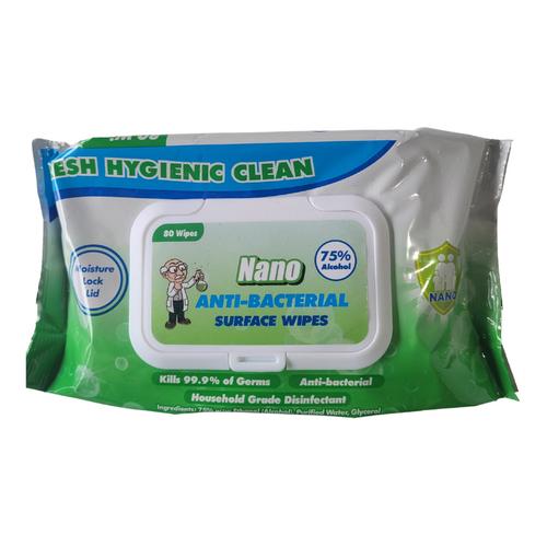 Nano Anti-Bacterial Wipes - 80