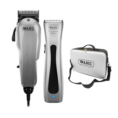 Wahl Chrome Taper 2000 & Silver Beret Wahl Tool Case