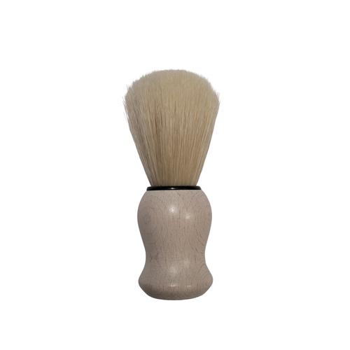 Zenith White Wood Shave Brush - Boar Bristle