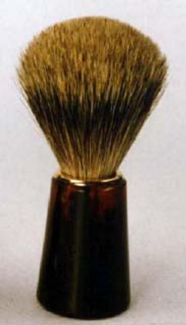 Zenith Cone Tortoise Shave Brush - Pure Badger Bristle