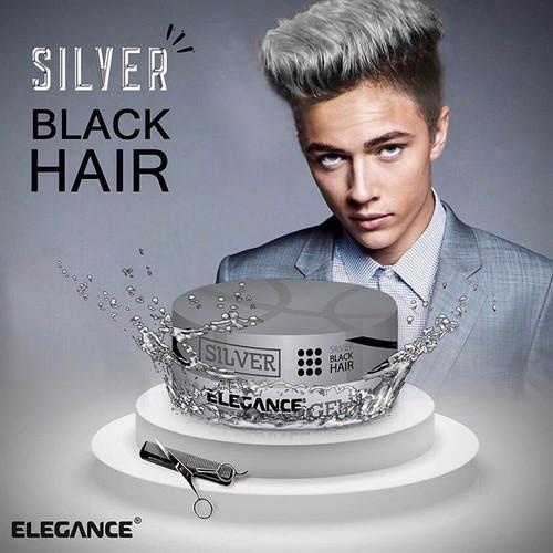 Elegance Silver Black Hair Wax - 140g