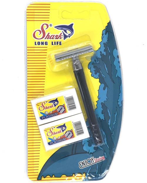 Six Double Edge Safety Razor SHARK + 10 Shark Platinum Blades
