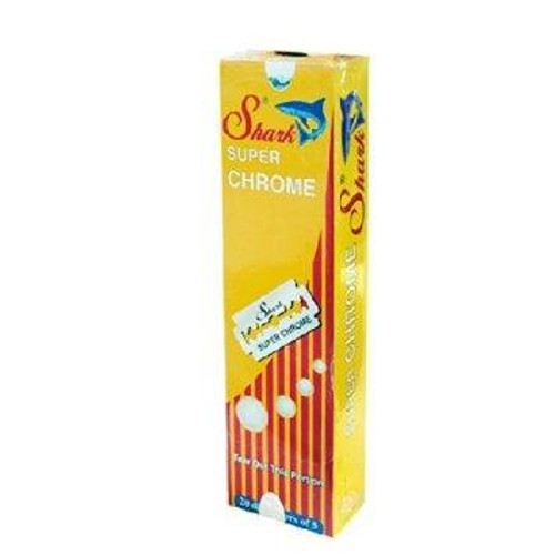 Shark Super Chrome Double Edge Safety Razor Blades, Pack of 100