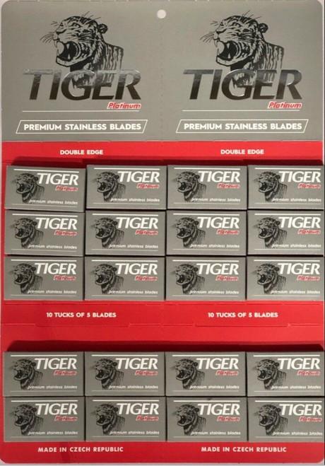 Tiger Premium Double Edge Razor Blades, 100 Blades Czech Made