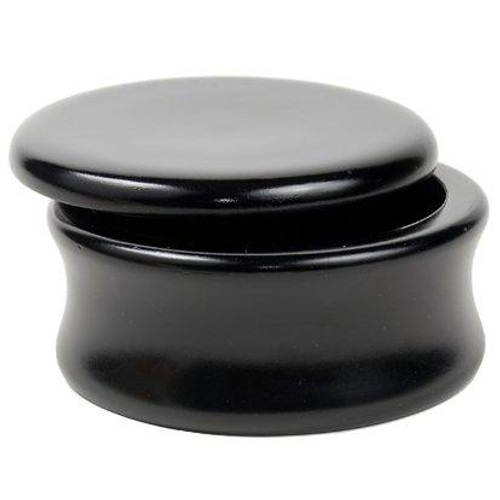 Genuine Mango Wood Shave Soap Bowl – Black Laquer from Parker Safety Razor (No.4)