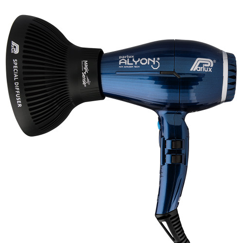 Parlux Alyon Air Ionizer Tech Hair Dryer 2250W - Midnight Blue w/Diffuser Pack