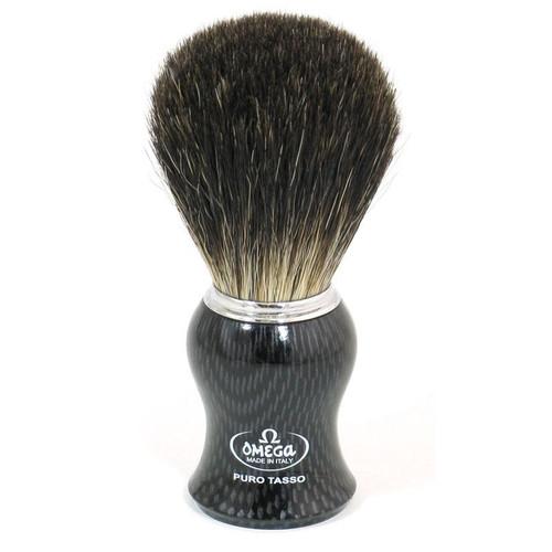 Omega Shaving Brush with pure badger bristles