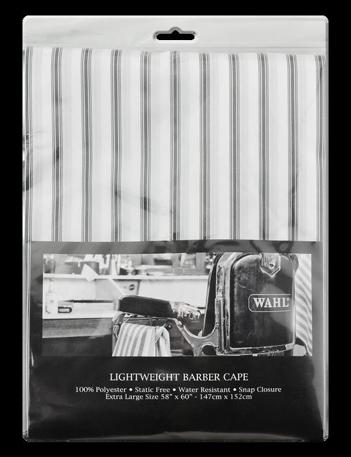 Wahl Pin Stripe Barbers Cape-White