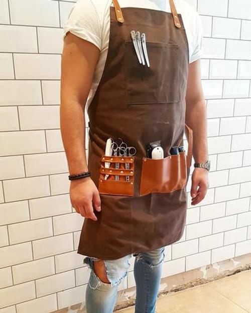 Barber Apron-Chocolate Brown