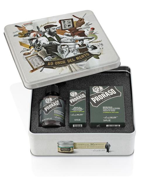 Proraso Beard Tin GIFTBOX Cypress Vetiver  - ref 400692