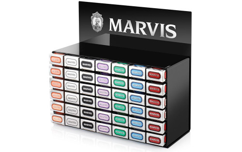 Marvis Black Perspex Counter Display  - Holds 42x 85ml - ref 411060