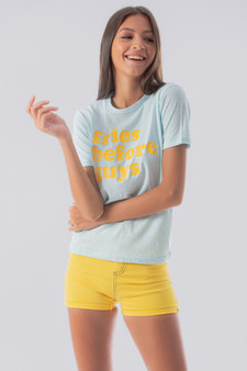 Fries before guys Graph Tee in baby blue