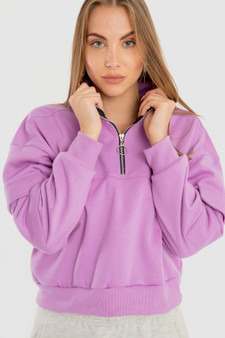 Half Zipper sweatshirt in Purple