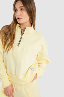 Half Zipper sweatshirt in Yellow